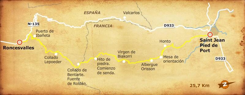 Stage 1 saint jean pied de port roncesvalles camino - St jean pied de port to roncesvalles ...
